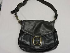 Coach Leatherware purse.  Black faded leather.  Great saddle purse