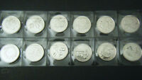 2000 Canada Millennium 12 coin set Quarter 25 cent 25c Canadian Uncirculated BU