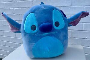 "BNWT Stitch Disney Squishmallow Soft Cuddly Toy Lilo and Stitch 12"" 30cm Large"