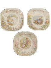 Beatrix Potter Royal Doulton 1985 Plates Set Of 3