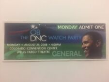 2008 Democratic National Convention Party Credential President Barack Obama 8/25