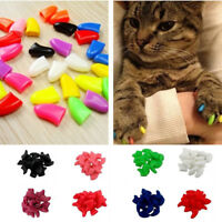 20Pcs/Pack Pet Dog Puppy Claw Covers Silicone Cat Paw Nail Cap Protector XS-XXL