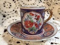 OMC Cup & Saucer Demitasse Made in Japan Otagiri Mercantile Company Coffee Tea