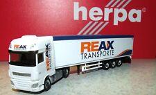 "Herpa 307260 DAF XF Euro 6 SSC Schubboden-Sattelzug ""REAX""  1:87"