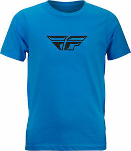 Fly Racing Youth Fly F-Wing Tee Turquoise Ym 352-0663Ym