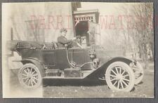 Vintage Car Photo Woman Driving 1910 Mystery Automobile 759592