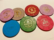 Variety of Casino  Poker Chips TOTAL OF 7  Misc   Lot 8