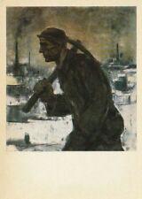 Soviet Picture Postcard,1969 - THE MINER by Pierre Paulus (1881-1959), Belgian