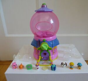 Squinkies Pink Gumball Machine Dispenser with 8 Squinkies and Balls