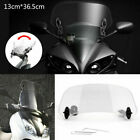 Universal Motorcycle Adjustable Clip On Windshield Extension Wind Deflector USA