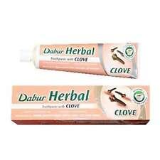 Dabur Herbal Pasta De Dientes Sin Fluoruro agregado de Goma Protección De Clavo 100 Ml Tubo
