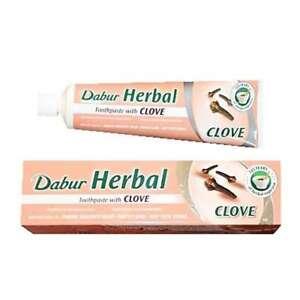 Dabur Herbal Toothpaste Clove No Added Fluoride Gum Protecting 3 x 100 ml tube