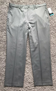 New PGA Tour Gray Flat Front Golf Pants Men's Size 40 x 32 $70