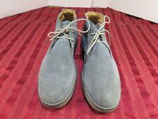 Joseph Abboud Chukka Casual Comfort Blue Leather Suede Boots Men Sz 10.5M