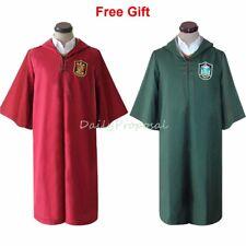 Unisex Quidditch Robe Harry Potter Seeker Red & Green Halloween Costume XS-XXL