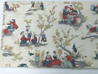 """Vintage Waverly Bonded Four Seasons Colonial scene 112"""" x 48"""" New old stock"""