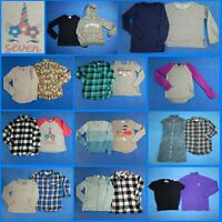 21 Piece Lot Nice Clean Girls Size 8 Fall School Winter Everyday Tops 2w98