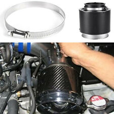 3inch Inlet Auto Car Carbon Fiber Surface Air Filter Double Stainless Steel Mesh