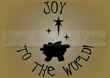 JOY TO THE WORLD CHRISTMAS Vinyl Wall Saying Lettering Quote Art Decor Decal