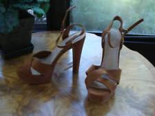 Atmosphere Women's Brown Leather Strappy Platform Heels Sandal Size 6