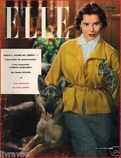 ▬►Elle 230 (1950) Edith Piaf_Michel Simon_Nicole Courcel_ Mode Fashion