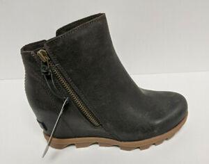 Sorel Joan of Arctic Wedge II Zip Booties, Blackened Brown, Women's 6 M