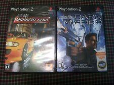 2 games Midnight Club Syphon Filter Dark Mirror Playstation PS2