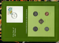 Coin Sets of All Nations Bahamas 1969-1985 UNC 1 cent 1985 5,25 cent 1981
