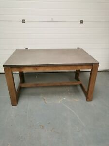 Made.com Exdisplay Bala Dining Table Solid Wood & Concrete