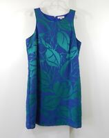 1.STATE dress shift sheath sleeveless knee length floral blue green MEDIUM M