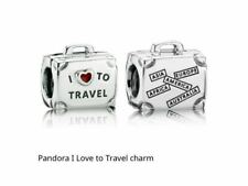 New! Limited Edition Authentic PANDORA S925 ALE I Love To Travel Suitcase Charm
