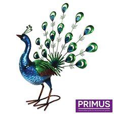 Primus grande vibrante Fan queue de paon Décoration De Jardin Sculpture idée cadeau PQ3011