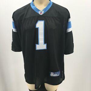 Reebok Onfield NFL Patriots Newton 1 Jersey Shirt Short Sleeve Black Blue Men 52