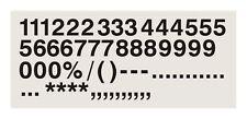 30 x 3 Inch (75mm )Black Stick on Self Adhesive Vinyl Numbers Signs Diy