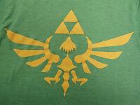 The Legend of Zelda T-shirt S small green Tri-Force video games nintendo
