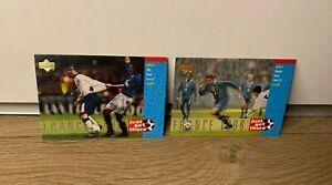 1998 Upper Deck England David Beckham Rookie Card Bundle- x2 France 98