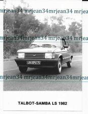 Photo d'époque TALBOT Samba LS 1982 format 125x175 mm