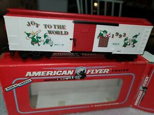 AMERICAN FLYER 6-48319 1993 CHRISTMAS BOX CAR - Estate Lot # 661, 1022 1023 1024