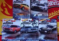 Hot Wheels Fast & Furious 1/4 Mile Muscle Choise/Choix lot ou à l'unitè (NG30)