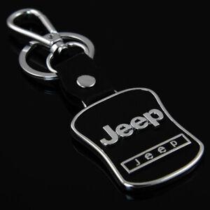 JEEP Brand Keyring UK Seller Black Silver Key Ring Premium Quality