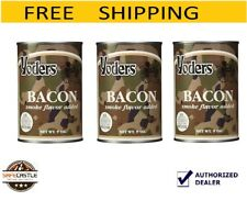 Yoders Bacon,3 Cans,9 oz each,Ready to Eat Long Term Storage Food Camping