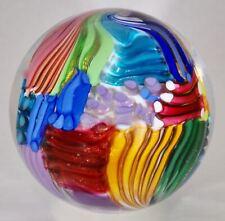 "Wald art glass handmade marble aventurine Lutz contemporary Quilt sphere 3"""
