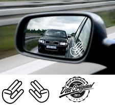 2 Stück Shocker Hand Aufkleber JDM Autospiegel Sticker, v. Farben ANSEHEN