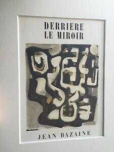 """Jean Bazaine""- 1949 Original Lithograph 15x11"" Matted To 16x20 W COA .New!!"