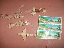 Satz Holz Spielzeug Fahrzeuge K02