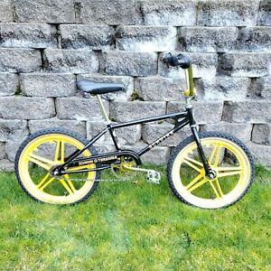 "Vintage 1983 Schwinn Thrasher BMX 20"" Black Gold Mags Scrambler"