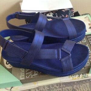 Call it Spring new platform sandals size 8 cobalt blue