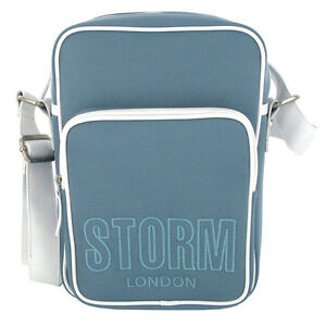 STORM Denim Look Luxury Satchel Bag / Messenger Bag / Across Body Bag
