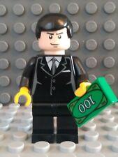 Lego Batman BRUCE WAYNE Minifigure Dark Blue Suit Batcave Mr Freeze Penguin 7783