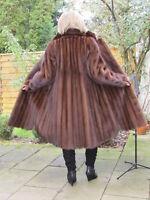 WOMEN XL XXL MINK NERZ VINTAGE VISON Fur Coat Ladies Top Condition D4274